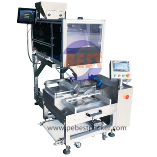 Plastic Tubular Bag Packaging Machine with Vision Count Fill system