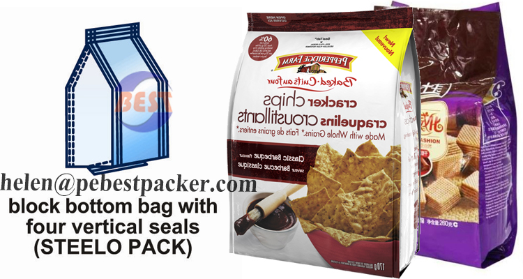 Steelo Pack Stand Up Bag Block Bottom Bag Packing machine Pet food, snack food