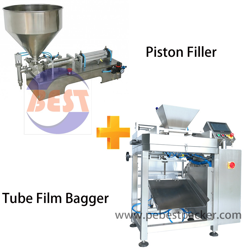 Powerful Servo Metering Pump PE bagging system for high viscosity liquid