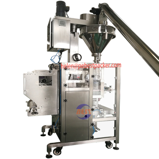 VFFS machine with Webb Automation Powder filler for Rock Salt Brown Sugar Pepper Packing Machine
