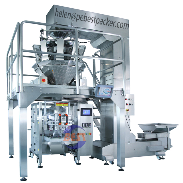 French Fries Cassava Banana Chips Snack Pouch Packing Machine Auto Weighing Flakes Crisps Packaging machine