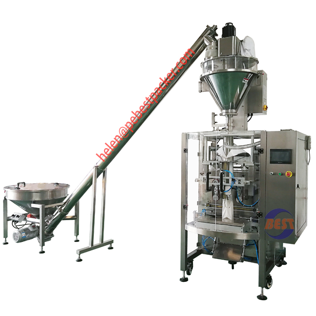 Collar Type Pouch Packing Machine Atta Curry Chili Turmeric Powder Wheat Flour Packaging Machine