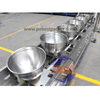 Inclined Bowl Conveyor for Frozen Seafood noodles in food production line